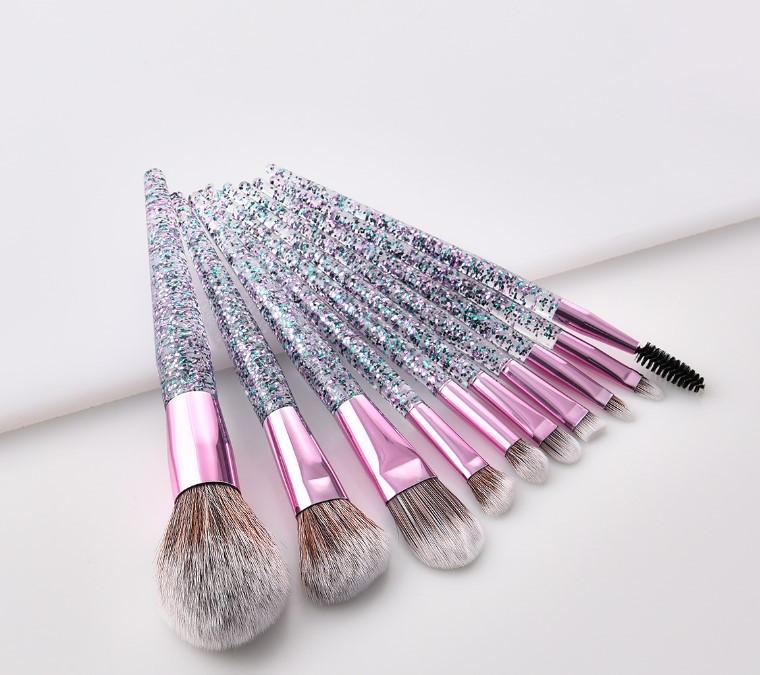Набор кистей для макияжа 10шт Rozi glance