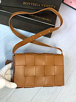 Кожаная женская сумка под Bottega Veneta, фото 1