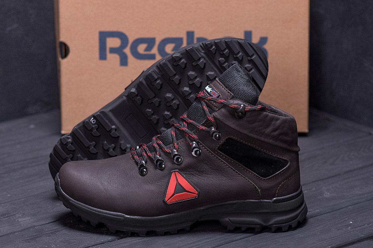 Мужские зимние кожаные ботинки в стиле Reebok Brown