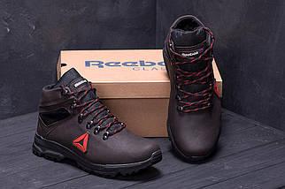 Мужские зимние кожаные ботинки в стиле Reebok Brown, фото 2