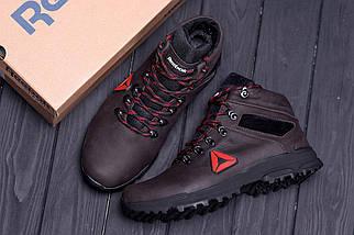 Мужские зимние кожаные ботинки в стиле Reebok Brown, фото 3