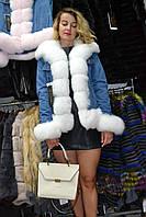 Модная парка с мехом песца (Joanne)
