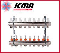 """Коллектор с расходомерами 1"""" на 9 выходов Icma № К013"""