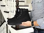 Мужские ботинки Timberland (черные) ЗИМА, фото 3