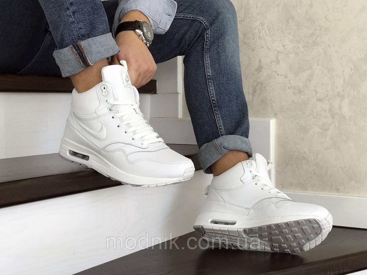 Мужские зимние кроссовки Nike Air Max 87 (белые)
