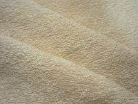Махровая ткань кремового цвета оптом, плотность 400г/м ширина 220 см