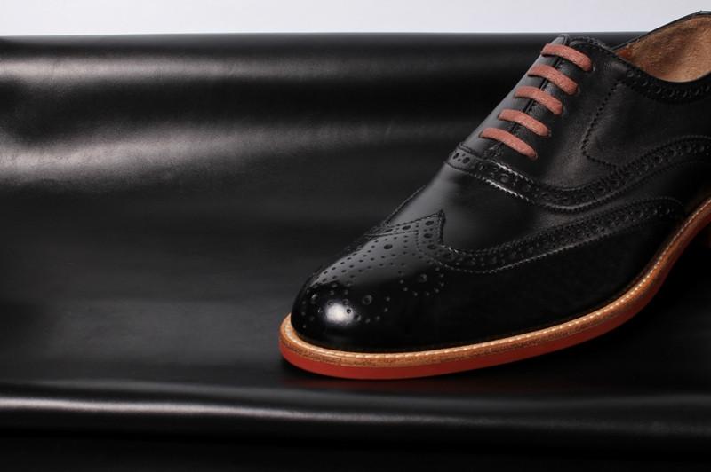 Кожа натуральная для обуви и сумок Анкара черная