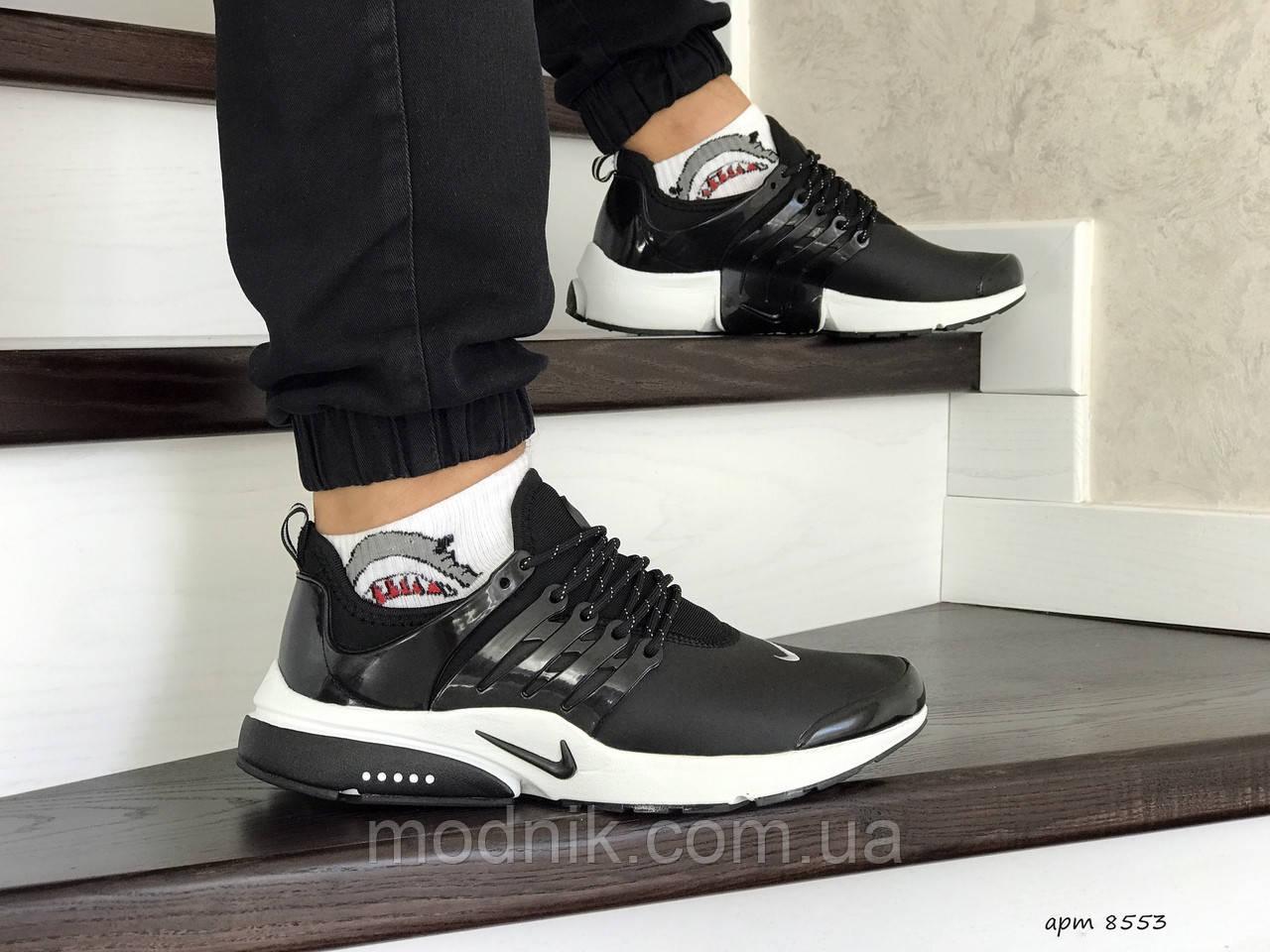 Мужские кроссовки Nike Air Presto (черно-белые)