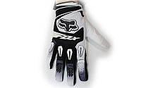 Мотоперчатки текстильные FOX M-4540-BW(M) (закр.пальцы, р-р L, черный-белый)
