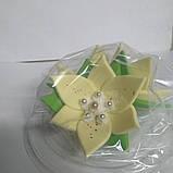 """Набір """"Лілії"""" 3 квітки (ЖОВТІ/КРЕМОВІ), фото 2"""