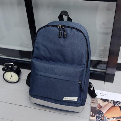 Городской рюкзак темно-синий с серым