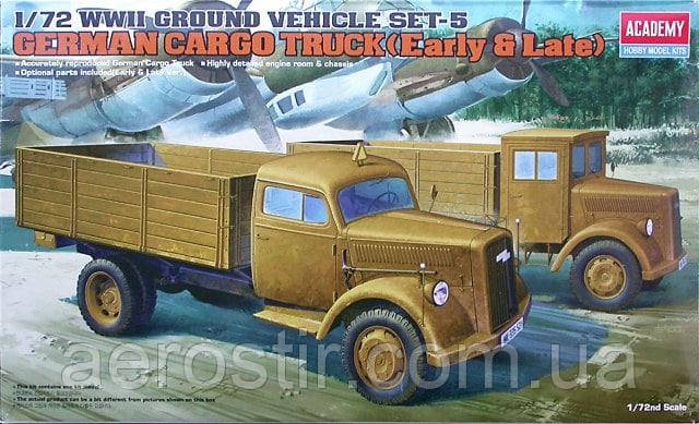 GERMAN CARGO TRUCK [Early & Late] 1/72 Academy 13404