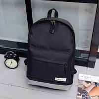 Городской рюкзак  черный с серым