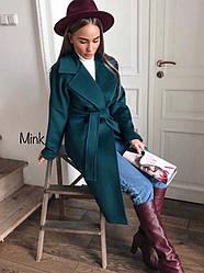 Пальто зимнее кашемировое с поясом + (4 цвета)