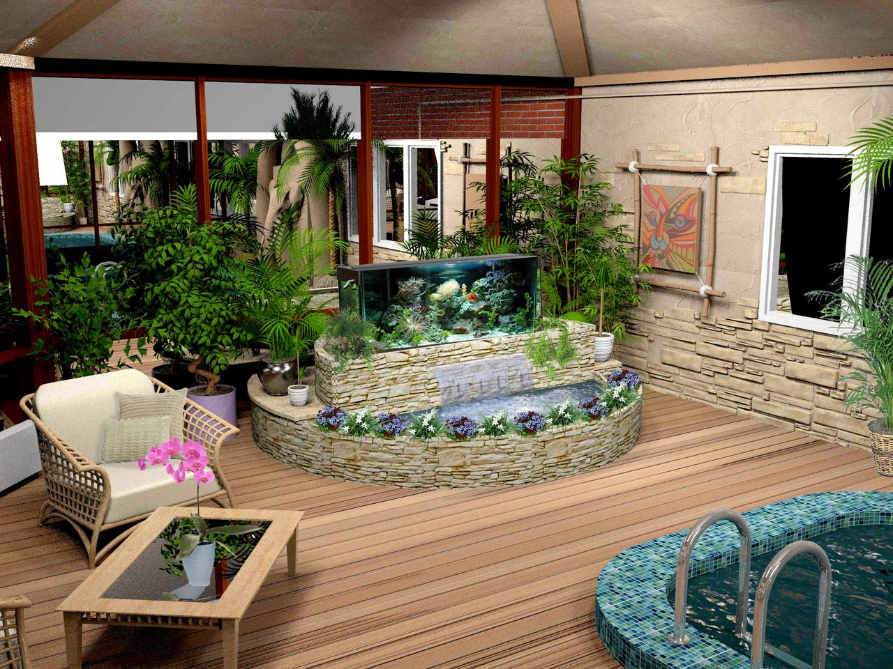 Построить Эксклюзивный Зимний Сад с Бассейном