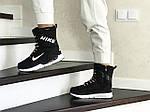 Женские зимние дутики Nike (черно-белые), фото 2