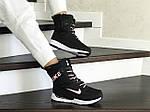 Женские зимние дутики Nike (черно-белые), фото 3