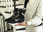 Женские зимние дутики Nike (черно-белые), фото 4