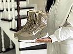 Женские зимние дутики Nike (оливковые), фото 3