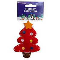 Мягкая игрушка сувенирная, Красная елка, 11см (000401-8)