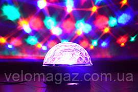 Светодиодный музыкальный ДИСКО ШАР с динамиками LED CRYSTAL MAGIC. МР3, ПУ