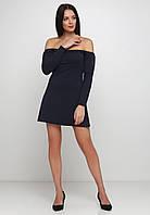 Стильное и оригинальное платье со спущенными плечами из двунитки  Elizabeth
