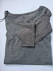 Женская футболка длинный рукав приятная к телу коттон серая c&a, фото 3