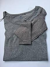 Женская футболка длинный рукав приятная к телу коттон серая c&a, фото 2