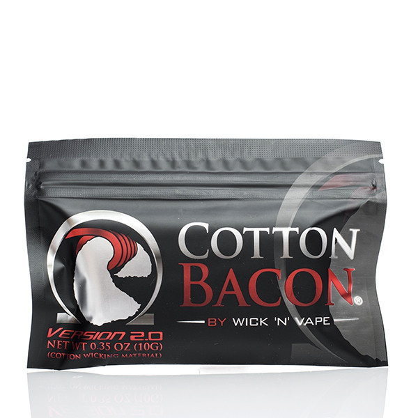 Вата для електронних сигарет Wick 'N' Vape Cotton Bacon V2