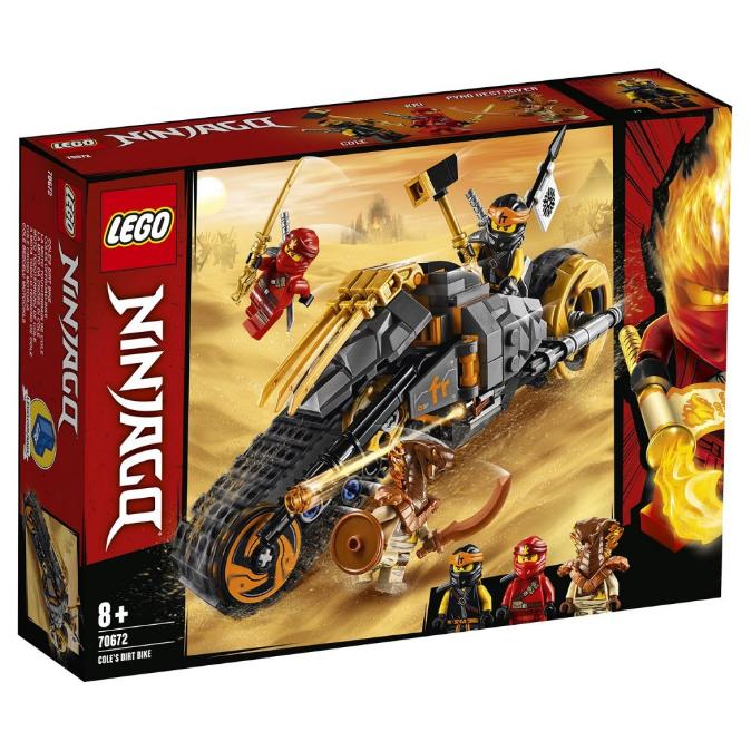 Конструктор LEGO Ninjago «Мотоцикл Коула для мотокросу» 70672