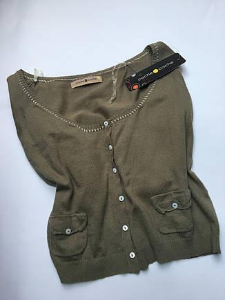 Кофта женская брендовая хаки размер М-L, фото 2