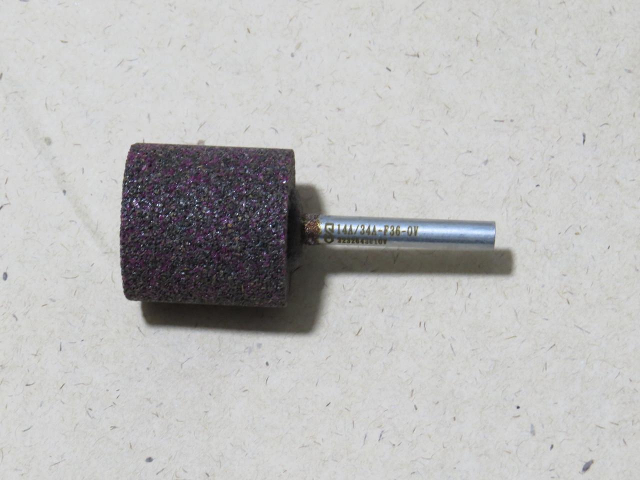 Абразивная шлифовальная головка цилиндрическая Ø32х32х6 P50 СТ1 14А\34А