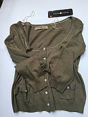 Кофта женская брендовая хаки размер М-L, фото 3