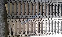 Водоотводная чугунная решетка для лотков 500х125х20 щелевая, парковая, ливневая