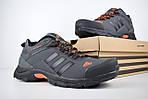 Мужские кроссовки Adidas Climaproof (серо-оранжевые), фото 4