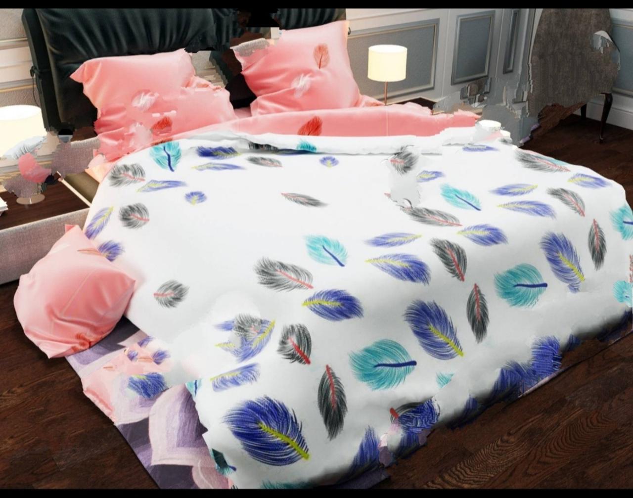 Комплект постельного белья евро Колибри