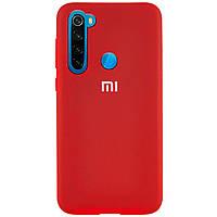 Оригинальный чехол для Xiaomi Redmi Note 8 Silicone Case Full (Красный)