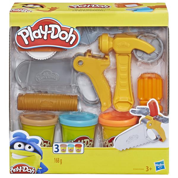 Hasbro Play Doh Плей-До Игровой набор Сад или Инструменты (E3565 TOOLIN AROUND SET)
