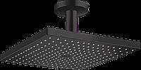 Верхній душ Hansgrohe Raindance Select E 300 1jet Air з тримачем до стелі Matt Black