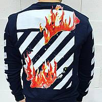 Кофта худи мужская черная Home с принтом на спине рисунок огонь свитер мужской черный свишот с пламям на спине