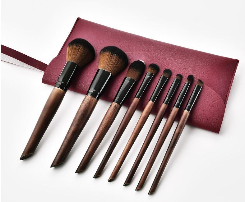 Набор кистей для макияжа 8шт Rozi tande + чехол в подарок