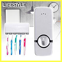 Дозатор зубной пасты с подставкой для щеток