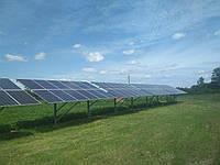 Сетевая солнечная электростанция 30 кВт с поворотным каркасом (с. Банилов)