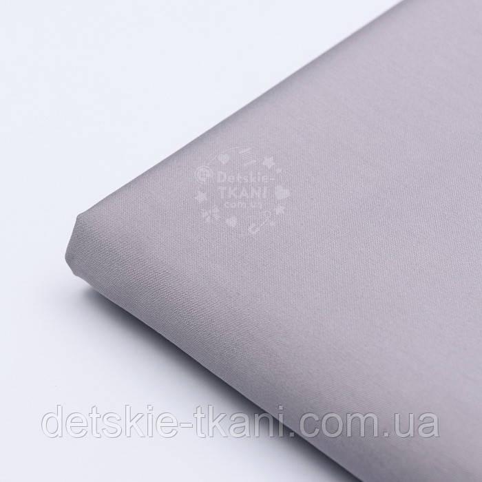 Лоскут сатина премиум, цвет стальной серы №1085