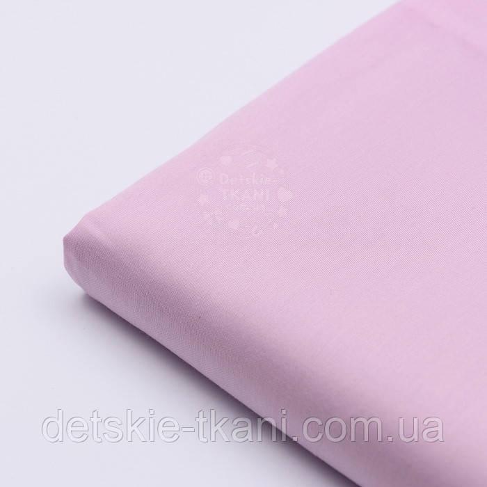 Лоскут сатина цвет розово-лиловый №1532, размер 32*120 см