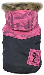 Куртка для животных Dobaz, Добаз, DogWear комуфляж розовый