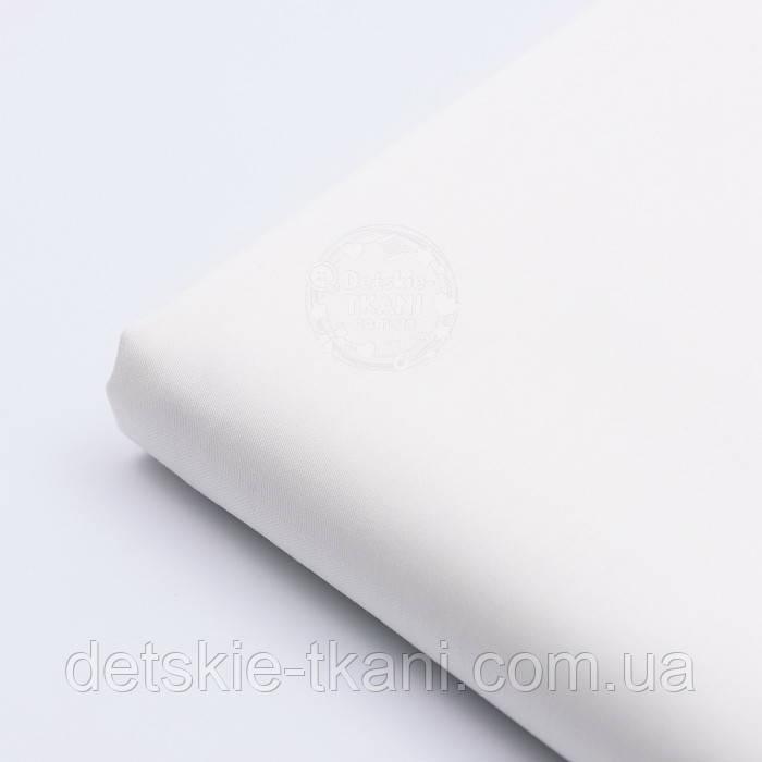 Лоскут сатина светло-молочного цвета №789с, размер 20*120 см
