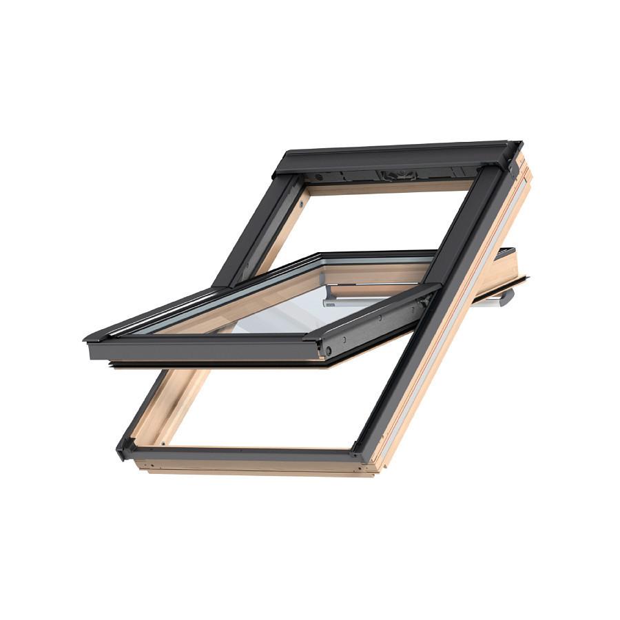 Мансардное двухкамерное окно GGL/GGU Премиум Velux, ручка в верхней части, с вентиляцией, фильтром от пыли