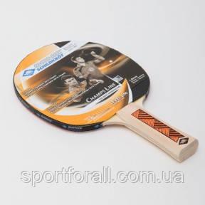Ракетка для настільного тенісу 1 штука DONIC LEVEL 200 CHAMPS LINE (деревина, гума) MT-70512