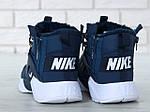 Мужские зимние кроссовки Nike Air Huarache Winter с мехом (сине-белые), фото 7